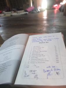 Buku yang kami sumbang untuk perpustakaan Wae Rebo